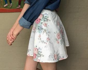 Dainty Floral Wrap Skirt