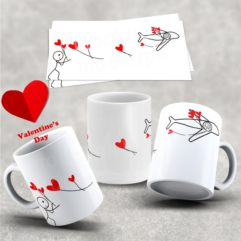 2 Mug Design Template Couple valentines day Sublimation Mugs Sublimate  template Sublimate Design for Mug Valentine Day Design Sublimation