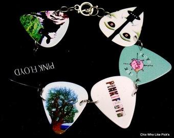 8.25 large Pink Floyd guitar pick bracelet