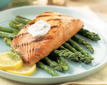 Salmon With a Lemon Dill Sauce (We can not take orders for Tuesday, Wednesday or Sunday delivery as we are booked for the summer 2018