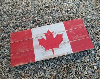 b15da51e7 Canadian Flag Rustic Wood Sign