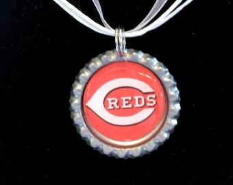 Cincinnati REDS Baseball Handcrafted Necklace