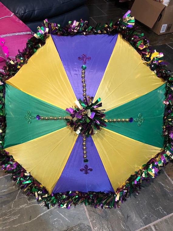 Mardi Gras  Second Line Umbrellas Customized