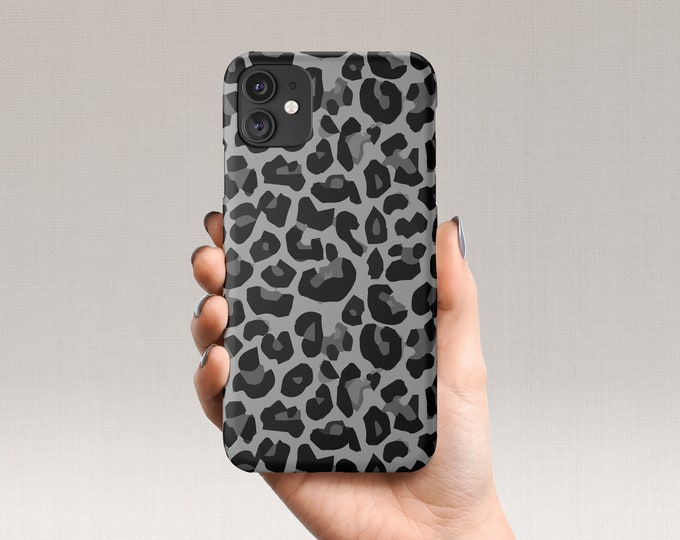 Gray Leopard iPhone Case