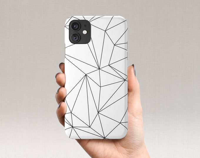 White Geometric iPhone Case