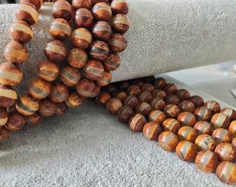 ST-54 Focal Beads Large Tibetan Agate Beads Large Oval Dzi Beads Dzi Agate Beads Mala Beads 2 beads Replica Dzi Beads