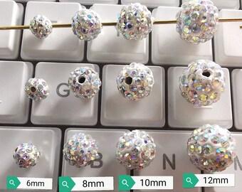 Crystal -AB Polymer Clay Rhinestone Beads 42e73a78abb7