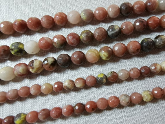 Mookaite Round Beads 8mm Mixed 45 Pcs Gemstones DIY Jewellery Making Crafts