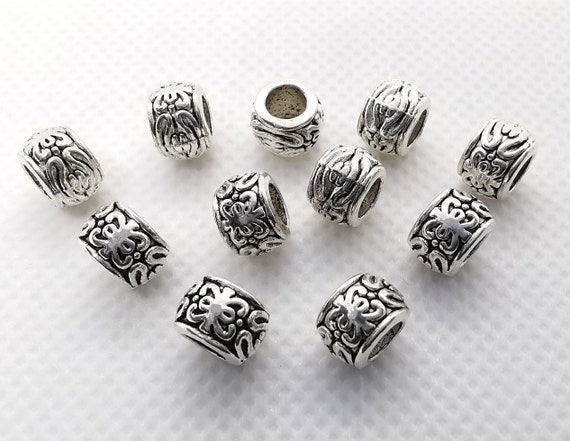 8 MM 100 x ANTIQUE SILVER DRAGONFLY TIBETAN  STYLE SPACER BEADS