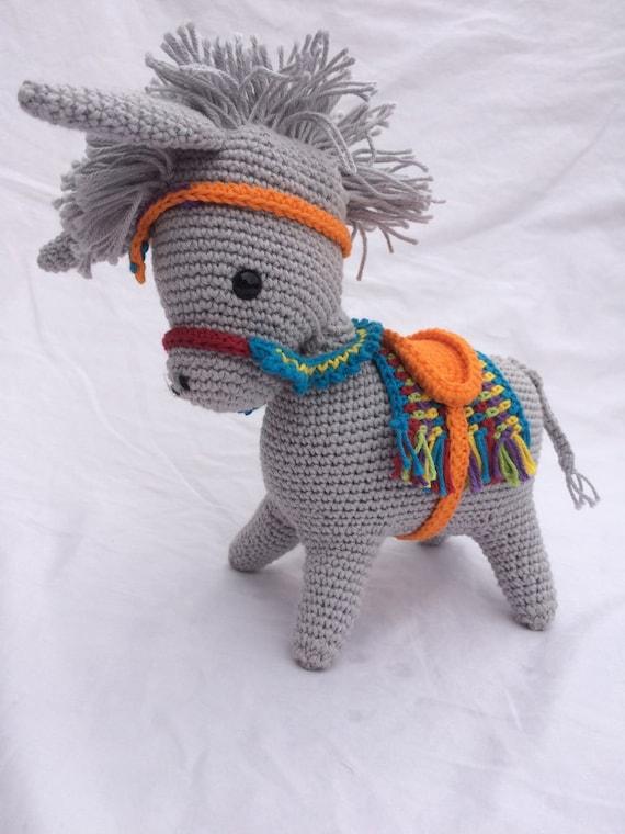 Esel gefüllt Tierspielzeug häkeln Esel Esel Amigurumi | Etsy