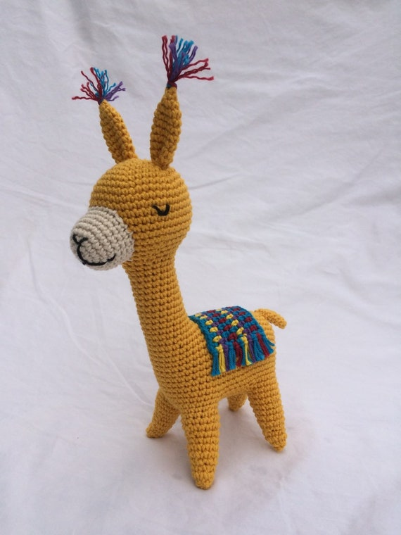 Llama Stuffed Animal Toy Crochet Llama Alpaca Amigurumi | Etsy