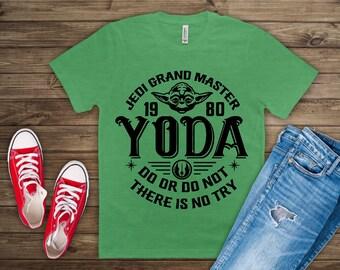 9ad4b90e Yoda Shirt, Jedi Grand Master Shirt, Disney Yoda Shirt, Disney Yoda Star  Wars Tee