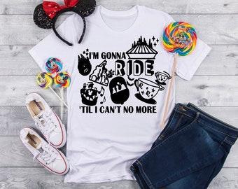 6f8ddf3bdbe68 Disney ride shirt   Etsy