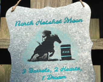 Barrel Racer Barn Sign