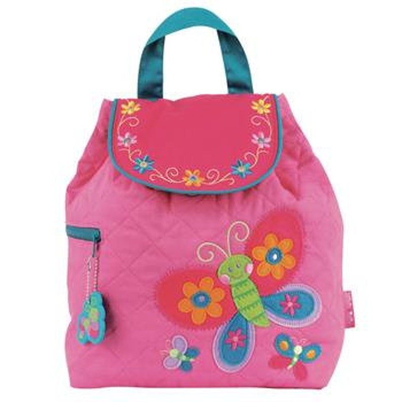Pink Butterfly Stephen Joseph Quilted Backpack
