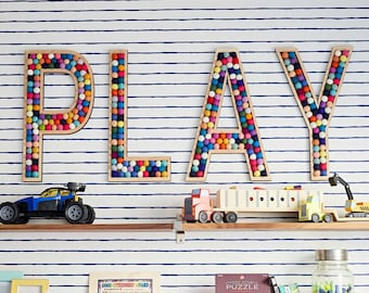 Tall PLAY room letters