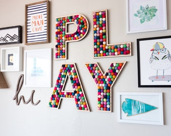 PLAY room wall letters