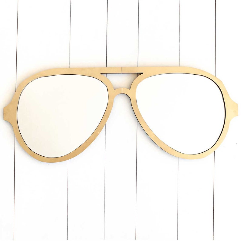 23e34a9b05d19 Aviator Sunglasses Wall Mirror in Gold