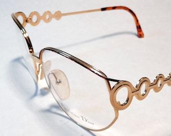37d6ccdff5df Christian Dior 2750 Oversize Golden Metal Frame Made in Austria  80 NOS  Mint Condition Unworn
