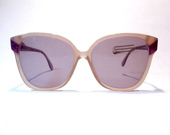 bcf1f07695 Silouhette 80s Vintage Sunglasses Beige Purple Translucent Frame Light Blue  Lenses Oversize Made in Austria