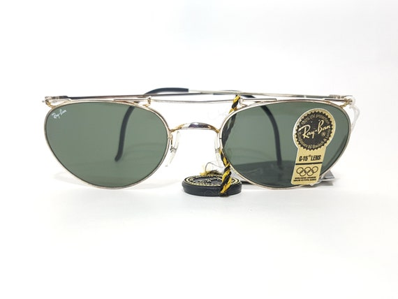 6628b0badd Rayban Oval Green Lens Gunmetal Polished Frame Double Bridge