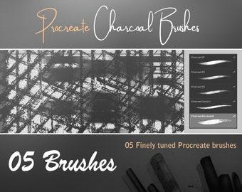 Procreate Charcoal Brushes