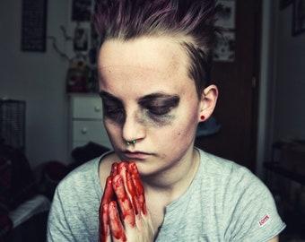 Digging My Brain Away - Fine Art Photography, Portrait, Horror, Portrait Photography