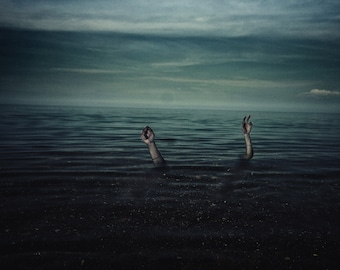 Drowning From Within - Fine Art Photography, Portrait Photography, Ocean, Ocean photography, Seascape, Portrait