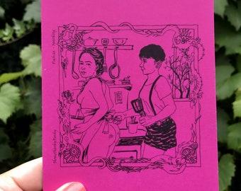 Postcard Fuchsia- Spanking