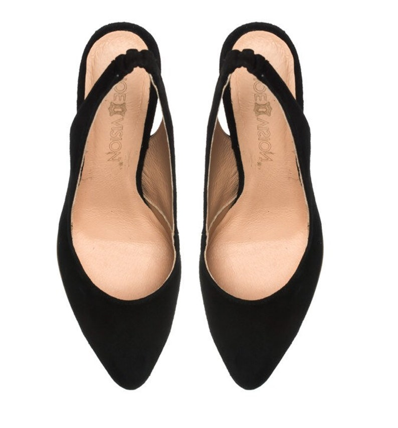 9809ce562ae52 Viola - Leather shoes velvet - black