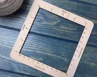4 Inch wooden knitting gauge