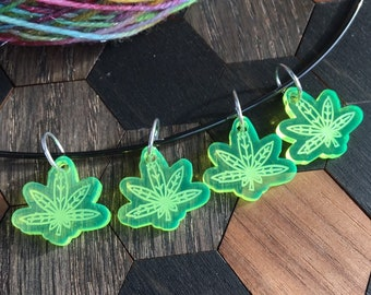 Neon Haze, Weed stitch markers