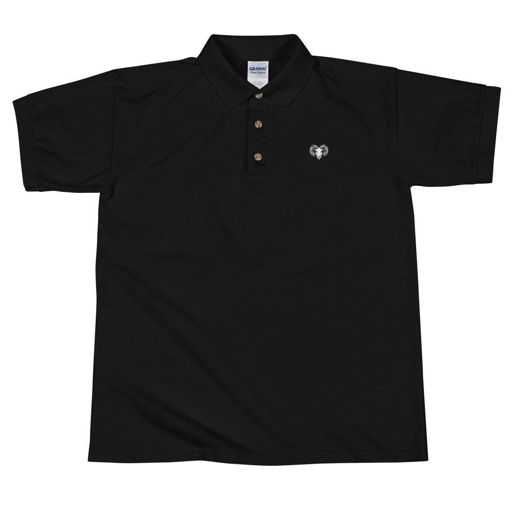 Go Embroidered Polo Shirt Custom Polo Shirts Polo Logo Etsy