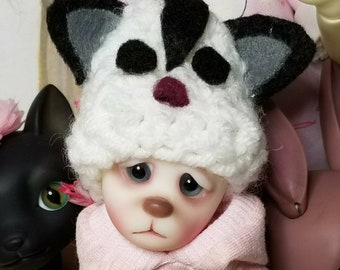 Crochet doll hat stocking cap sugar glider themed made to order fits all dolls