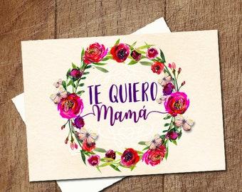 Tarjeta para el dia de la Madre en Español