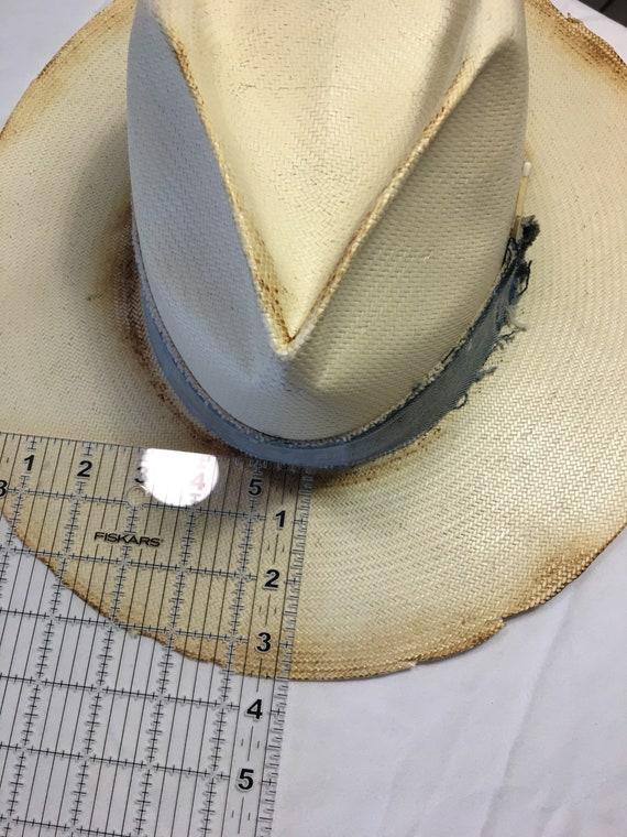 dc03de6773608 CUSTOM Designed Straw Fedora w  Vintage Levis Denim Hat Band