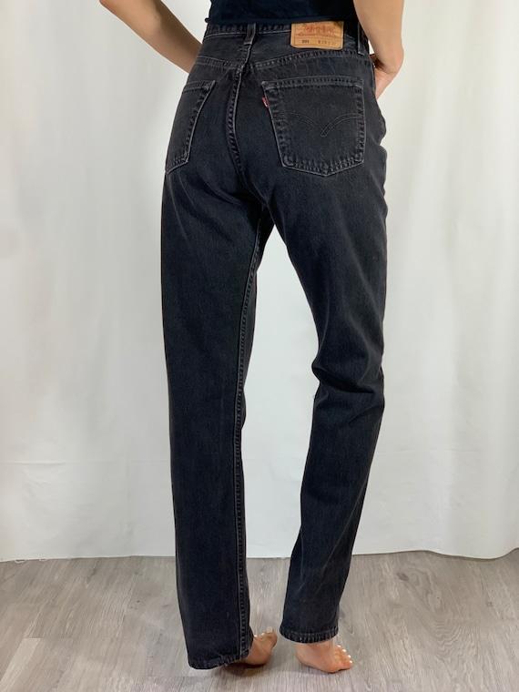 Vintage Sz 27 USA Levi's 501 Black Jeans