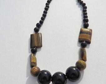 Brown Jasper bead necklace