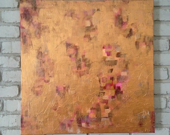 """Original Abstract Painting """"She Had Only Scratched the Surface"""""""