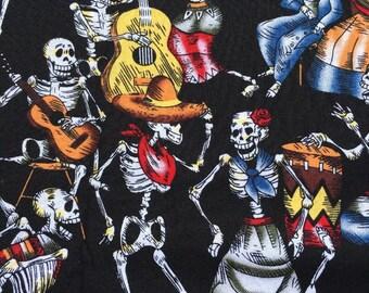 Night of the Dead 100% Fabric Halloween Goth Black