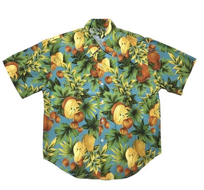 59724cf2 Floral Hawaiian Shirt Tropical Leaf Pattern Button Down | Etsy