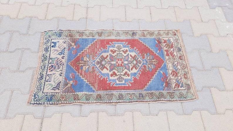 Anatolian Doormat rug 1.8x3.3 feet Anatolian Vintage Turkish Small Rug bathmat rug doormat Rug entry Rug wool Rug handmade Rug welcome Rug