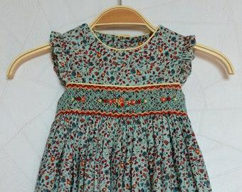 pretty green flower girl dress
