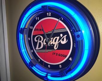 Frostie Root Beer Rootbeer Diner Soda Sign Wall Clock