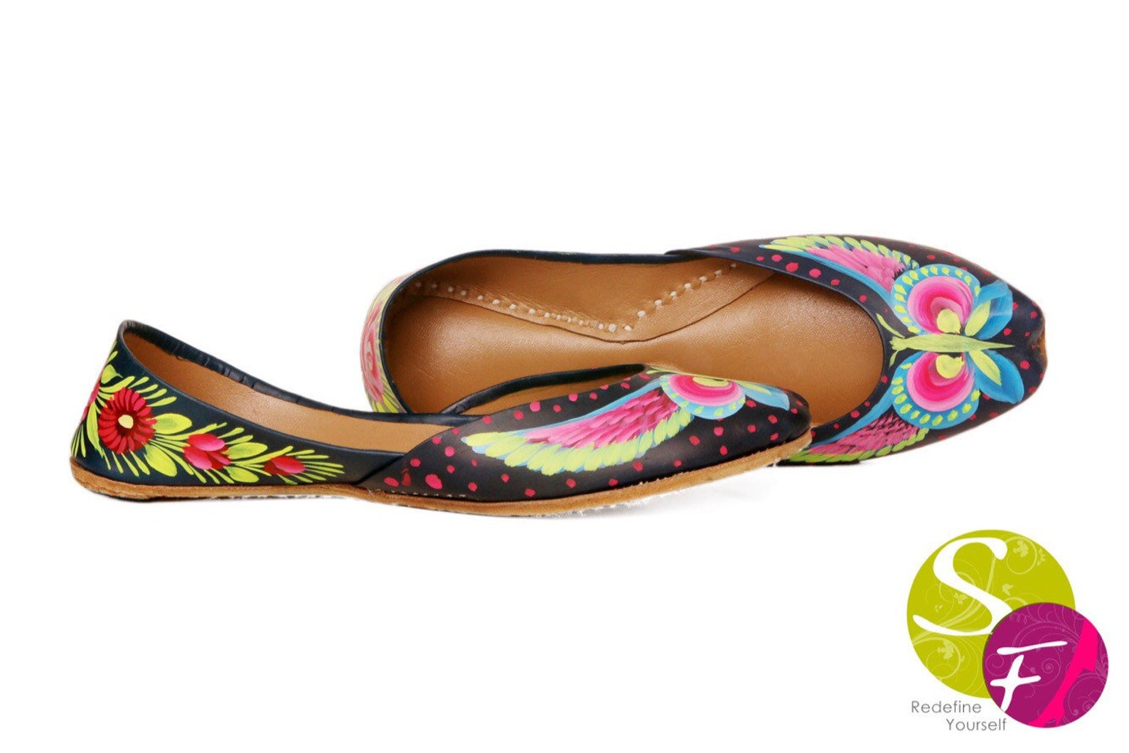 butterfly handpainted women flat shoes ballet flats handpainted khussa juti ethnic painted shoes handpainted mojari indian jutti