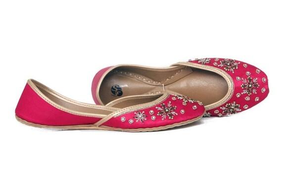 Pink Jutis Pink Flat Ballet Embellished Pink Shoes Khussa Pink Mojari rPrvqU