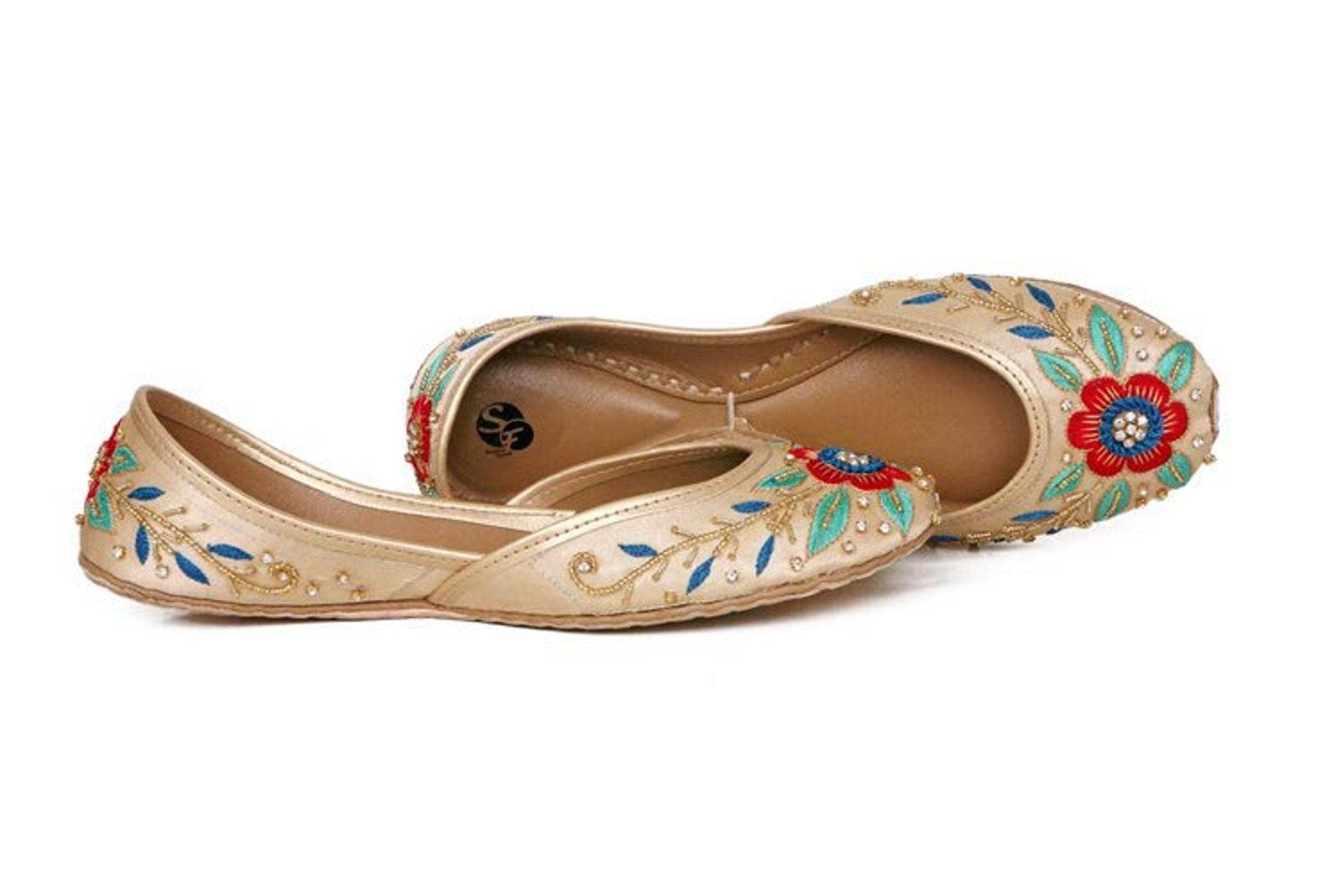 handmade embellished beige ballet flat shoes beige slip ons beige mojari beige khussa beige juti