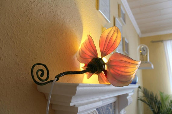 Lamp Light Table Lamp Minimalist Lighting Orchid Interior Etsy