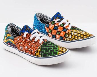 Size 40 EU. Repurposed Vans style shoes.