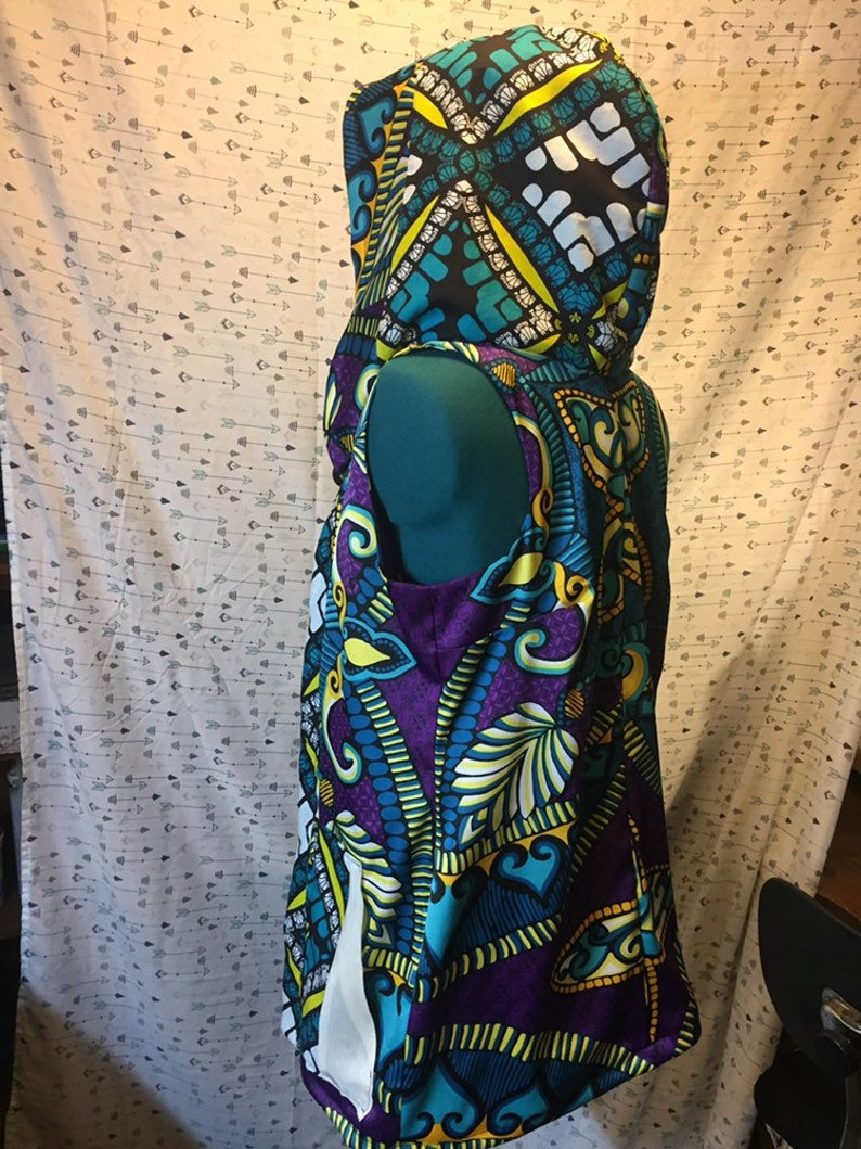 Hooded festival vest